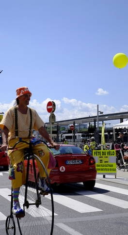 grand Bi avec le clown Gildas, cycles
