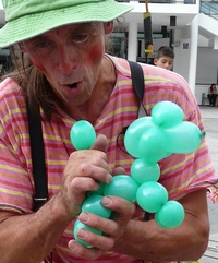 sculpture sur ballons clown gildas
