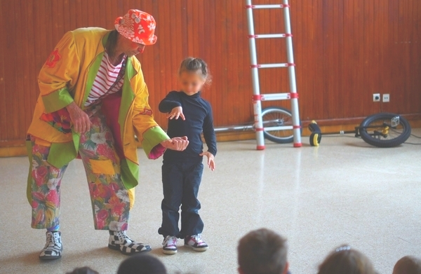 spectacle enfants magie, clown Gildas