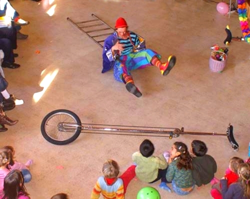 spectacle enfants, spectacle de clown, Gildas